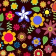 Funky flowers — Stockfoto