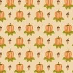 Acorn and pumpkin pattern — Stock Photo