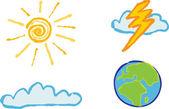 Shiny weather icons — Stock Photo