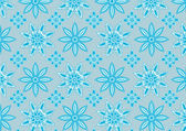 Blue snowflake pattern — Stock Photo