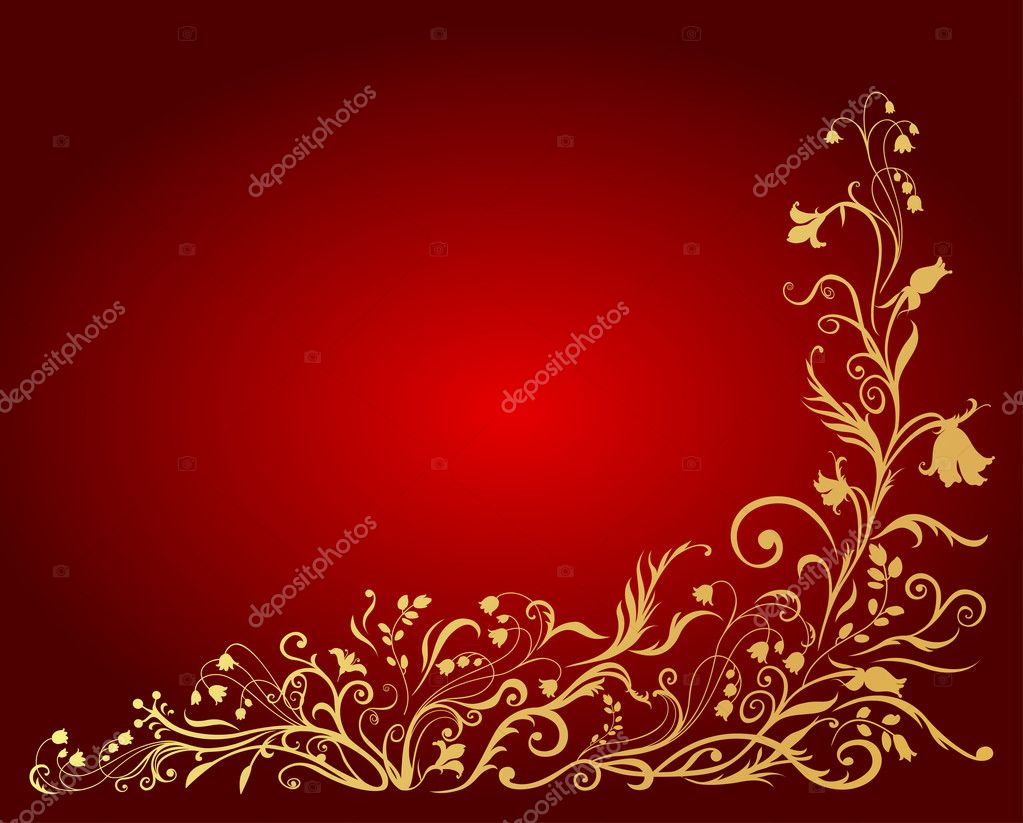 Illuctration of floral golden pattern — Stock Photo #1090182