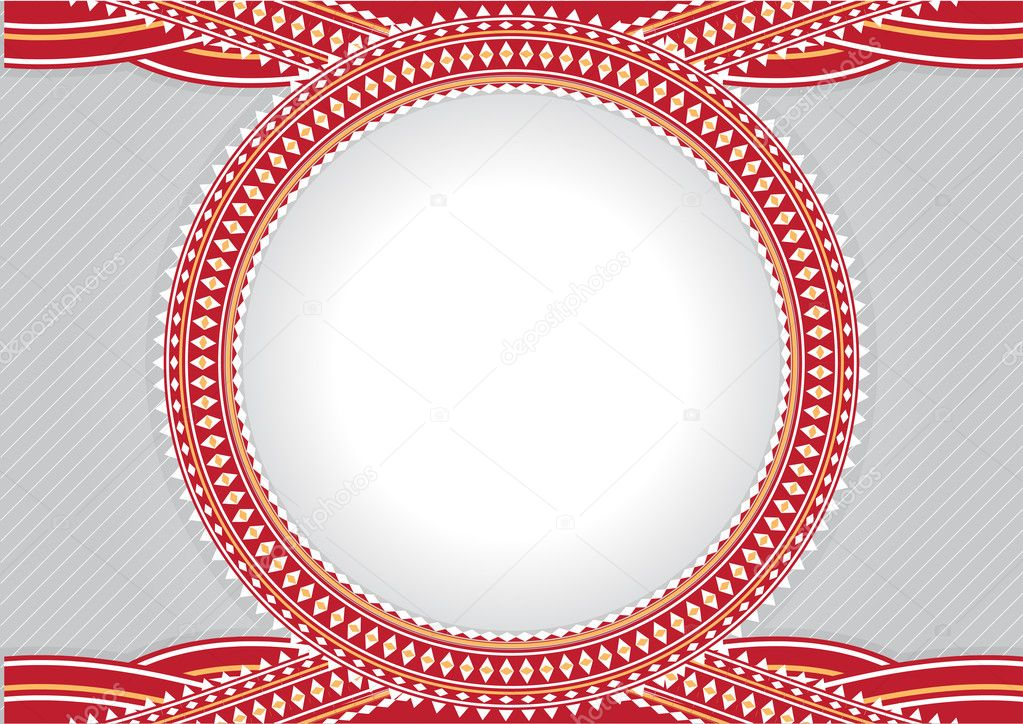 An elegant illustration design of circle frame for text or photos - blank so you can add your own images. — Stock Photo #1090192