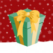 Christmas presents box — Stockfoto