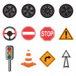 Royalty-Free Stock Photo: Transportation icons
