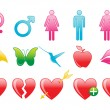 Royalty-Free Stock Photo: Valentine icons