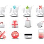 Shopping icons — Стоковое фото