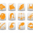 Royalty-Free Stock Photo: Zodiac icons