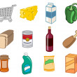 Foto Stock: Supermarket icons