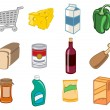 Supermarket icons - Stock Photo