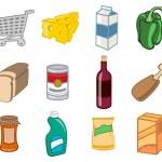 Супермаркет значки — Стоковое фото