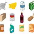 supermarkt pictogrammen — Stockfoto