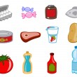 Food icons — Stock fotografie