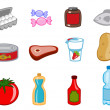 Food icons - Stock Photo