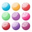 Decorative balls set — Stock Photo