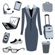 Bussiness woman accessories set — Stock Photo