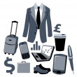 Bussiness man accessories set — Stock Photo