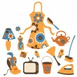 Housewife accessories icon set — Stock Photo