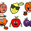 Fruits icons set — Stock Photo
