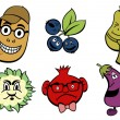 Fruits and vegetable icons set — Foto de Stock