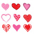 Hearts icon set — Stock Photo #1102699