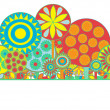Funky floral background - Stockfoto