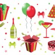 Birthday icons — Stockfoto