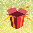 Royalty-Free Stock Photo: Open birthday giftbox