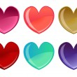 Beautifull hearts icon set — Stock Photo #1103171