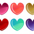 Beautifull hearts icon set — Stockfoto