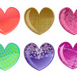 Beautifull hearts icon set — Stockfoto #1103204