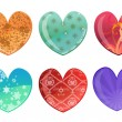 Hearts icon set — Stockfoto