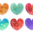 Stock Photo: Hearts icon set