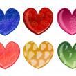 Beautifull hearts with fruit patterns — Stock Photo #1103276