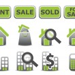 Real estate icons set — ストック写真