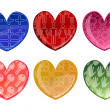Beautifull hearts icon set — Stockfoto #1104023