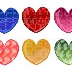Beautifull hearts icon set — Stock Photo
