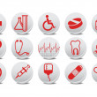 Medecine buttons — Stock Photo