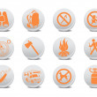 Camping buttons — Stock Photo