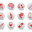 Medicine icons — Stock Photo