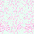 Sakura flowers pattern — Stock Photo