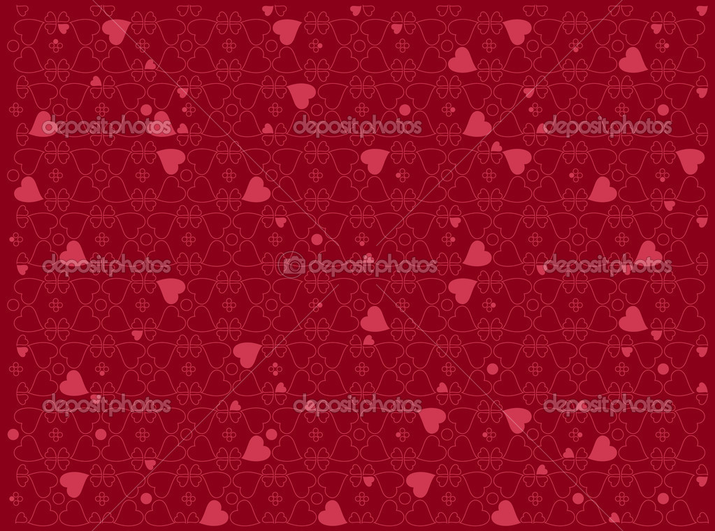 Illustration of heart motifs for valentine day cards or anything else  Stock Photo #1100504