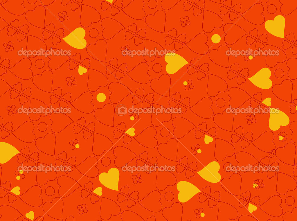 Illustration of heart motifs for valentine day cards or anything else — Stock Photo #1100990