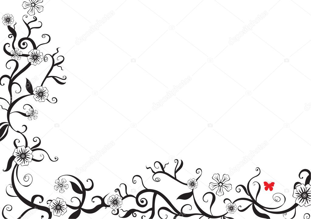 Black and white border designs free vector download