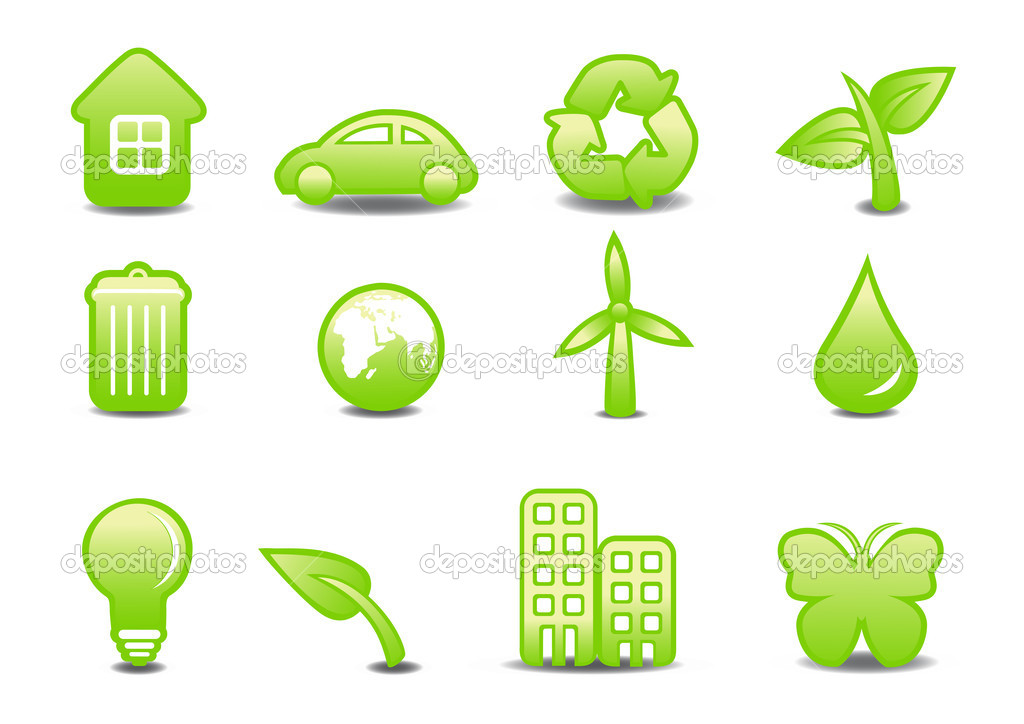 Illustration of ecological signs .You can use it for your website, application or presentation  Stock Photo #1101735