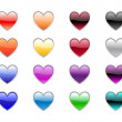 Stock Photo: Heart shape buttons