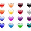 Heart shape buttons — Stock Photo