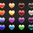 Heart shape buttons — Stock Photo