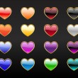 Heart shape buttons — Stock Photo #1158610
