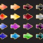 Arrow buttons — Stock Photo