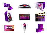 Music/audio icon set — Stock Photo